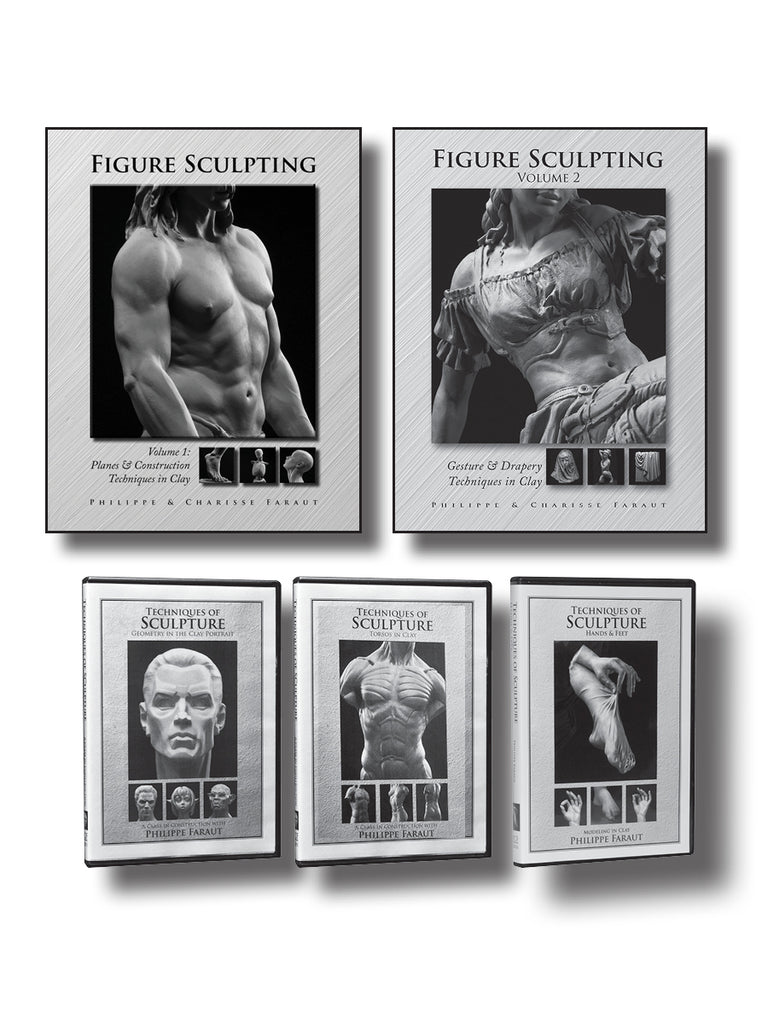 Figure sculpting 2 book and 3 dvd collection by Faraut