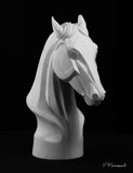 horse drawing cast, horse sculpture cast, horse bust, art reference cast, horse plaster cast for artist