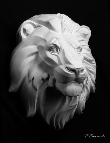 lion drawing cast, lion sculpture cast, lion mask, art reference cast, lion plaster cast for artist, lion anatomy, 3d animal reference, art cast, animal model