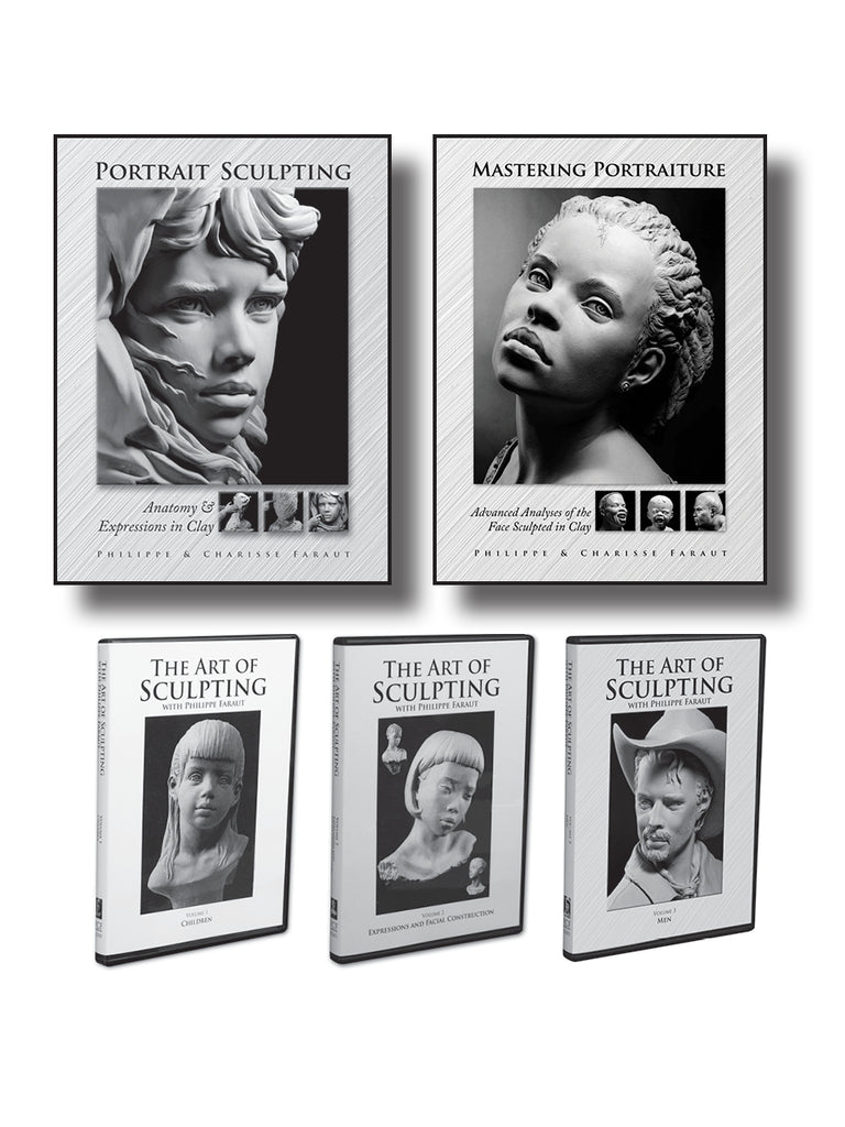Portrait Sculpting 2 Book/3 DVD Collection