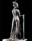 Cheval Glass figure sculpture by sculpting instructor Philippe Faraut
