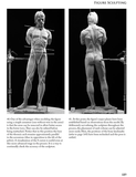 Figure Sculpting book by Philippe Faraut sample page: figure armature