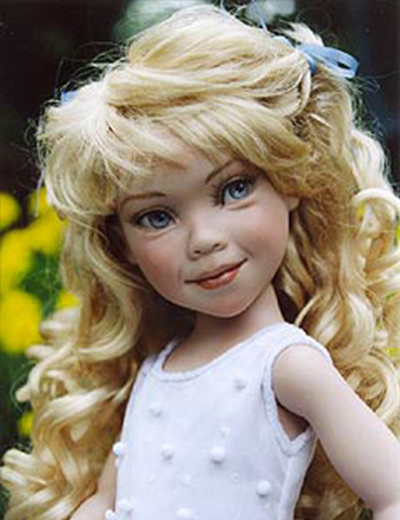 "14"" Linzy - Porcelain Doll Head Mold Only"