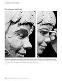 Sample page from Portrait Sculpting book by Philippe Faraut showing common mistakes