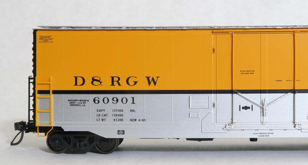 "12032-01 D&RGW SPRINGHILL car, GA 50' RBL Sill 2/ 10'0"" Centre Door"