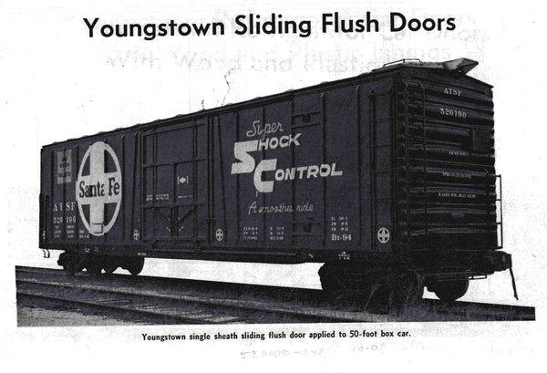 "RES21001 ATSF Topeka built Bx-94 50' XMLI 10'0"" Offset Door, Delivery 3-65 (2nd RUN)"
