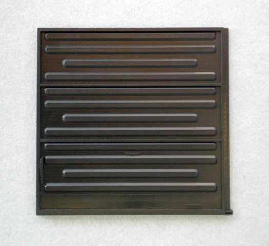 DR-0952 10-0 PS B Plate Sliding Door, intermittent ribs