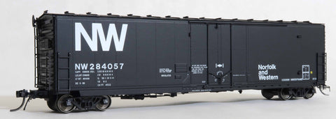 "13007 NW ex-NKP DE-3-80 repaint, GA 50' RBL Sill 1/ 10'6"" Offset Door/ Narrow Rods"