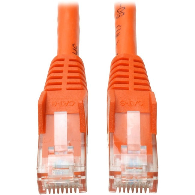Tripp Lite 3ft Cat6 Gigabit Snagless Molded Patch Cable RJ45 M-M Orange 3'