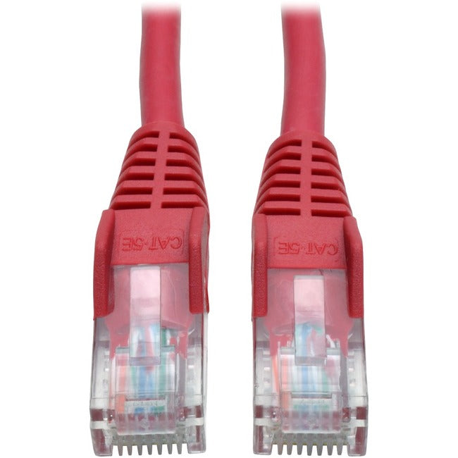Tripp Lite 50ft Cat5e - Cat5 Snagless Molded Patch Cable RJ45 M-M Red 50'
