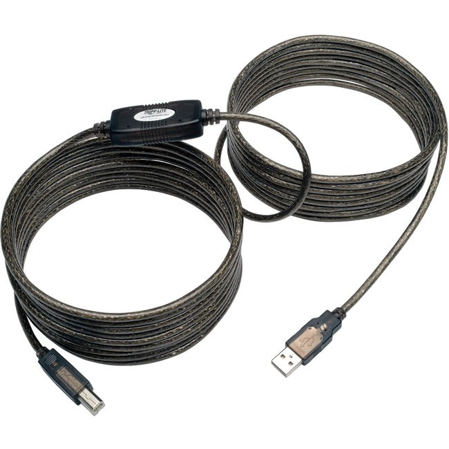 Tripp Lite 25ft USB 2.0 Hi-Speed Active Repeater Cable USB-A to USB-B M-M