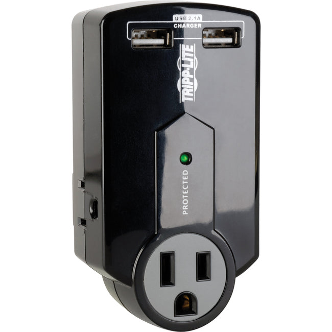 Tripp Lite Travel Surge 3 Outlet USB Charger Tablet Smartphone Ipad Iphone