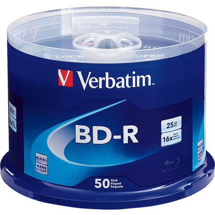 BD-R 25GB 16X with Branded Surface - 50pk Spindle