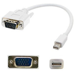 3ft Mini-DisplayPort 1.1 Male to VGA Male White Cable For Resolution Up to 1920x1200 (WUXGA)