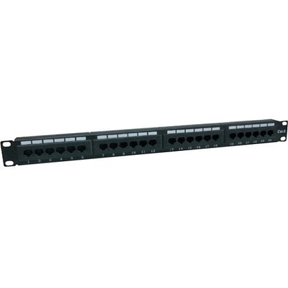 AddOn 19-inch Cat6 24-Port Straight Patch Panel with 110-Type 1U