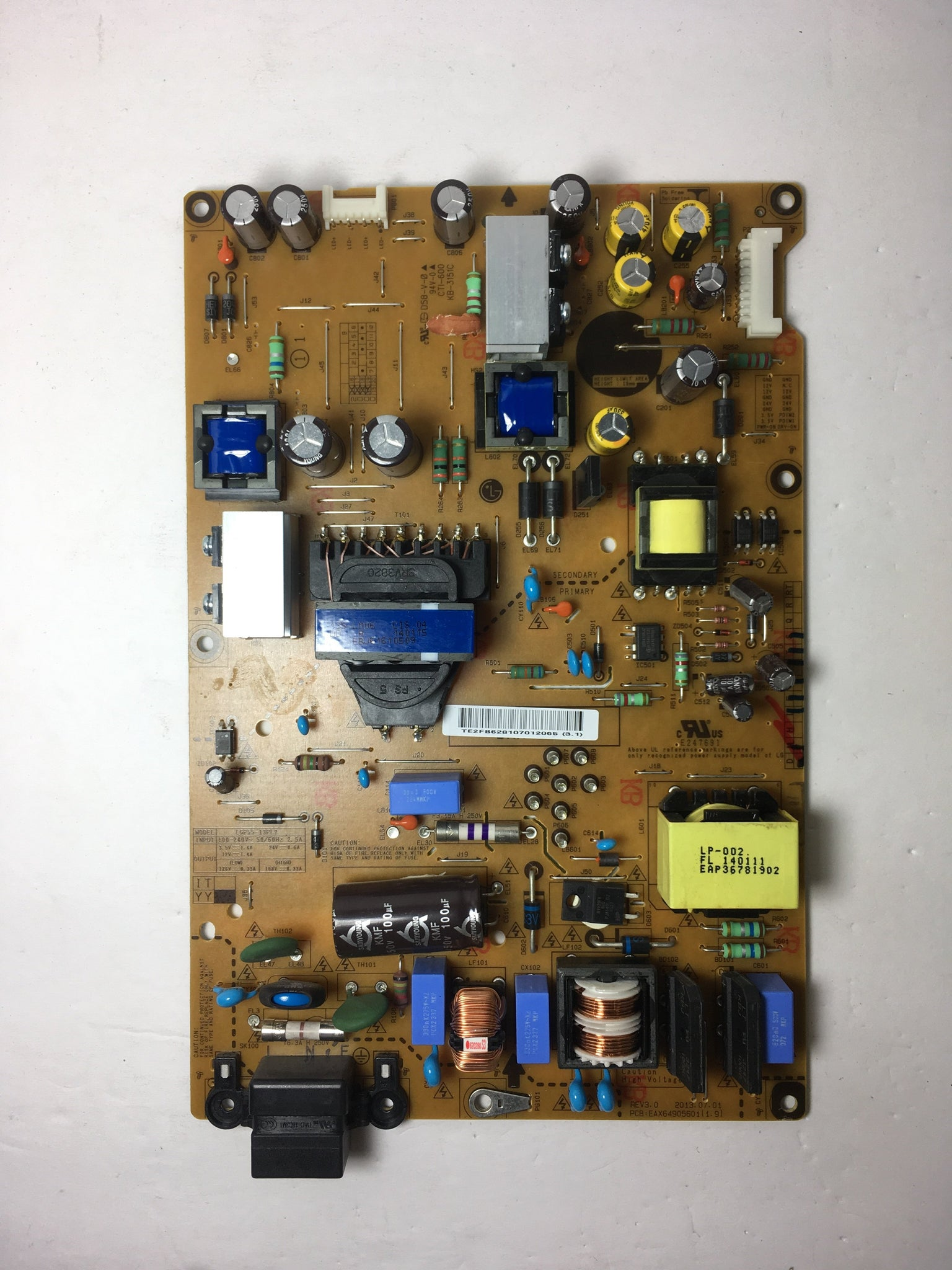 LG EAY62810701 (3PAGC10124A-R) Power Supply / LED Board