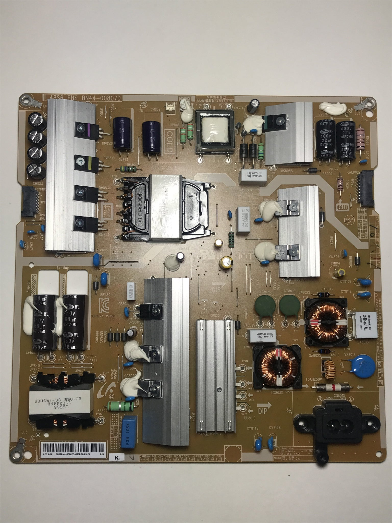 Samsung BN44-00807D Power Supply / LED Board