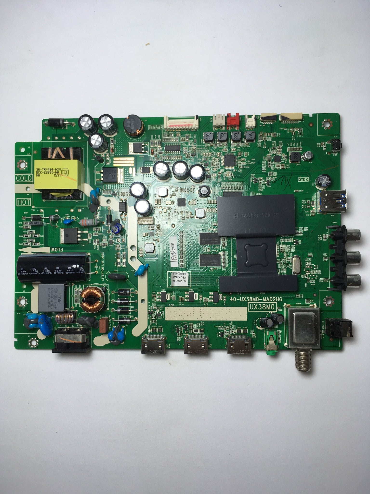 TCL V8-UX38001-LF1V025 Main Board / Power Supply for 32S3750 Version 32S3750TRAA