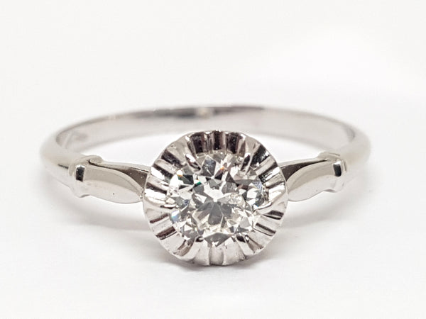 Antique Diamond Engagement Ring 0.43ct.
