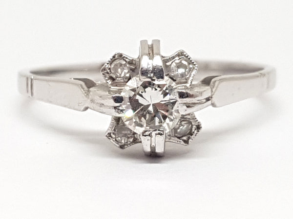 Antique Diamond Engagement Ring 0.44ct.