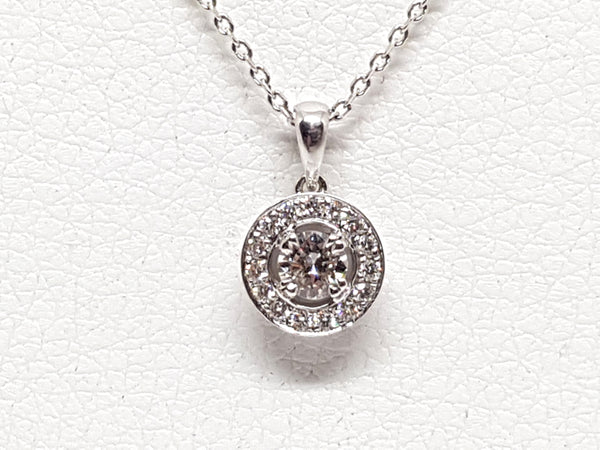 Necklace & Diamond Halo Pendant 1.07ct.