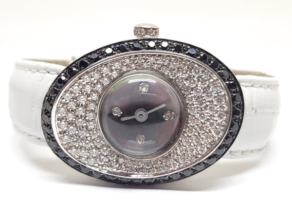 Black & White Diamond Ladies Watch