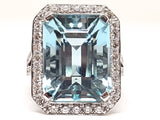 Diamond Aquamarine Ring 16.18ct.