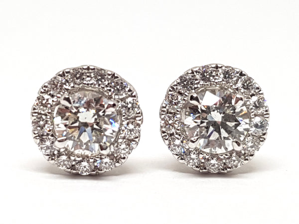 Diamond Earrings 1.82ct.
