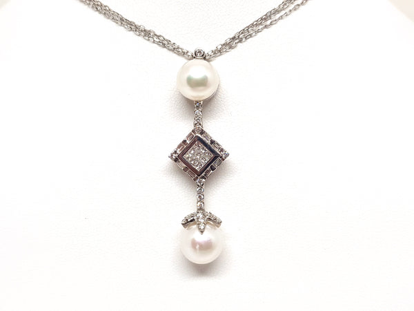 Necklace & Diamond Pearl Pendant 2.06ct.