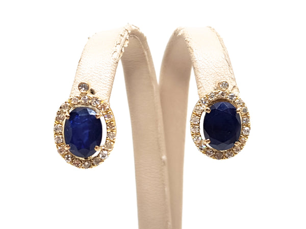 Diamond Sapphire Earrings 4.95ct.