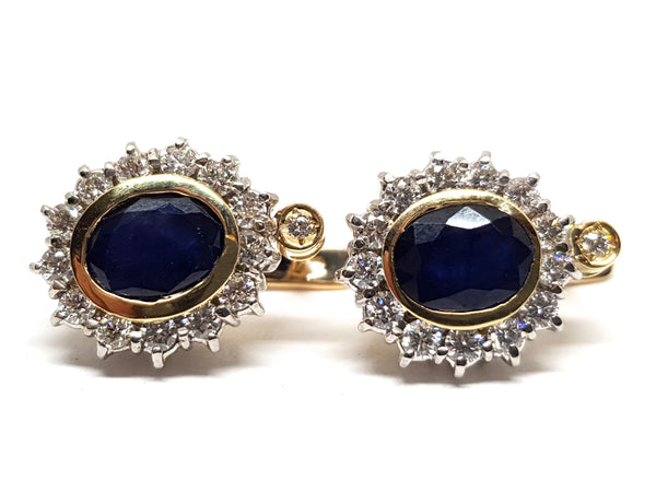Diamond Sapphire Earrings 5.20ct.