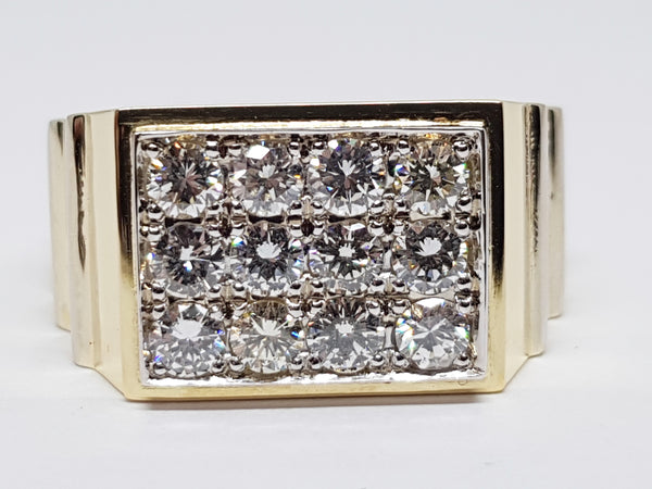 Mens Diamond Ring 1.92ct.