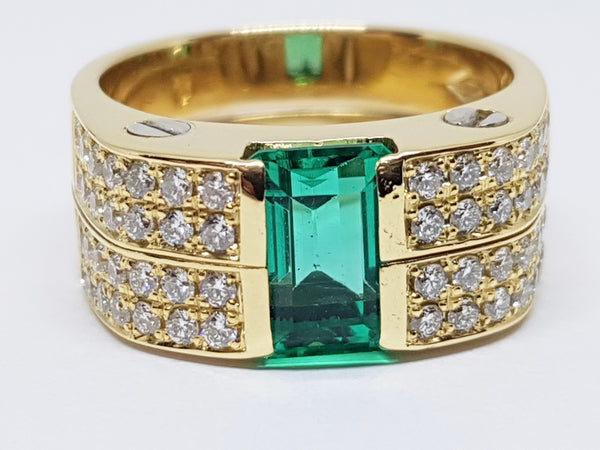 Diamond Emerald Ring 2.91ct.