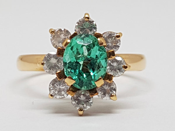 Diamond Emerald Ring 2.60ct.