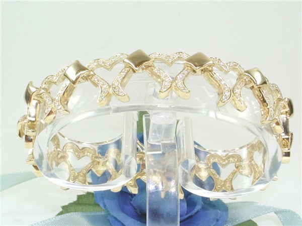 Ladies heart bracelet set with 3,20ct. diamonds