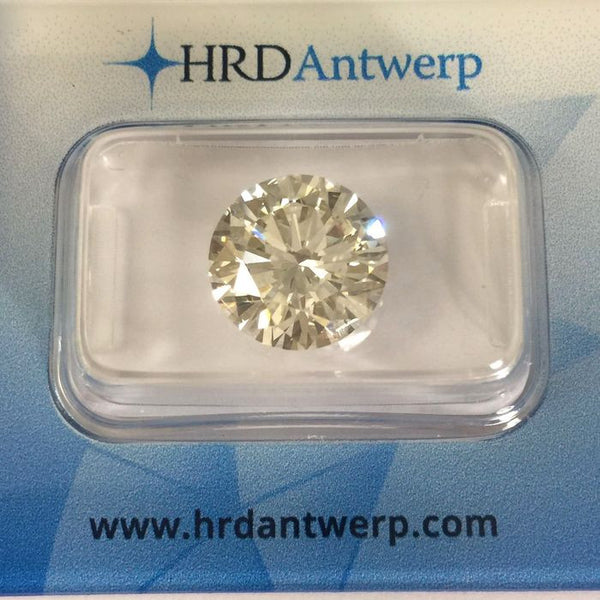 Certified Diamond 5.02 ct. Round Cut - K/ VS 2 - HRD Certificate
