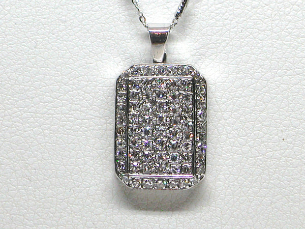 Antique Necklace & Diamond Pendant 3.10ct.