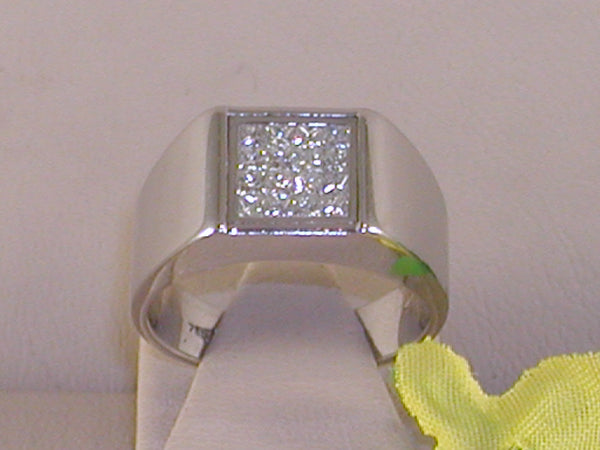 Mens diamond ring 0,70ct.