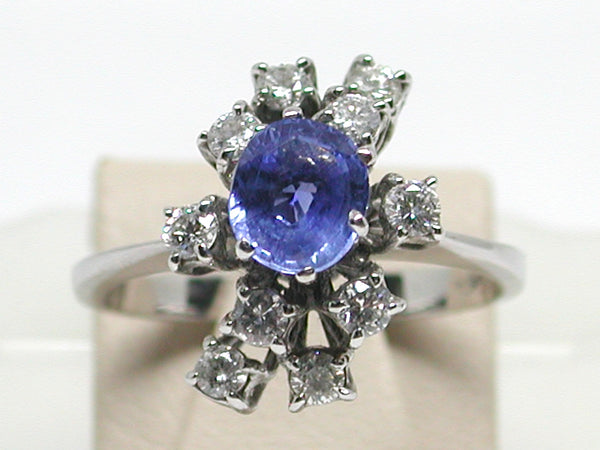 Antique Diamond Sapphire Ring 2.20ct.