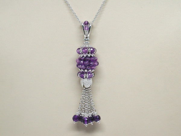 Antique Necklace & Amethyst Pendant 18.70ct.