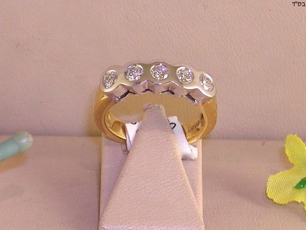 Diamant 5 Stone Ring 0,75 ct - 18K Gold