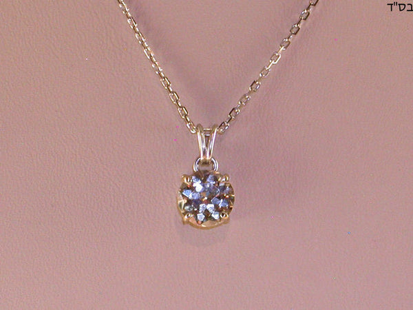 Diamonds Solitaire Pendant with Gold Chain- Total: 2.10 ct. L / VS 2
