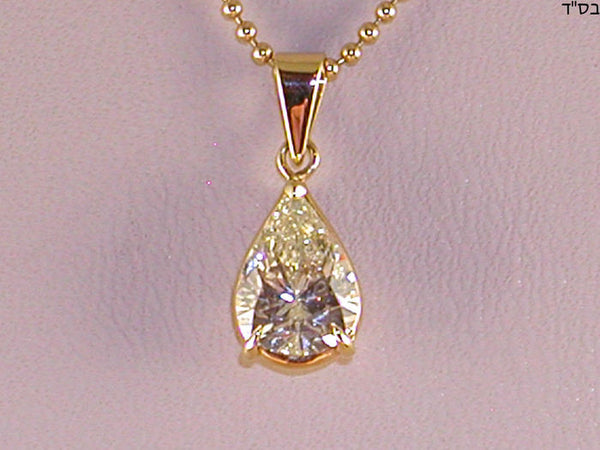 Solitaire Diamond Pendant with 18 K Gold Chain – 2.05 ct in total