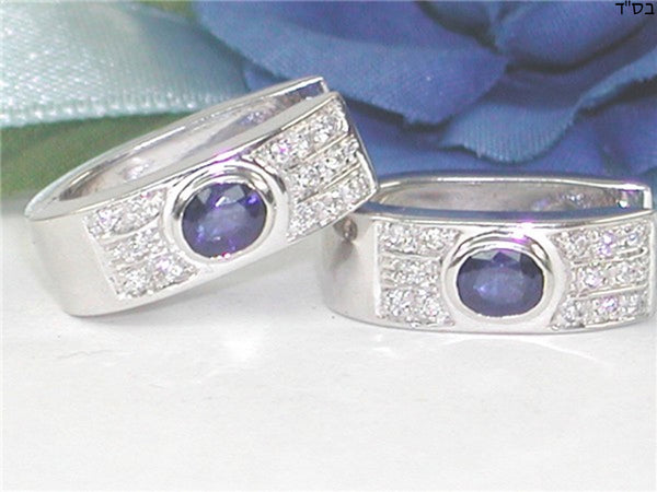Diamond Sapphire Earrings 1.15ct.