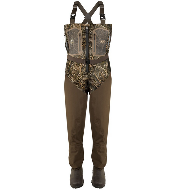 DRAKE WATERFOWL Front Zip Guardian Elite 4-Layer Wader w/ Tear-Away Liner [Stout]