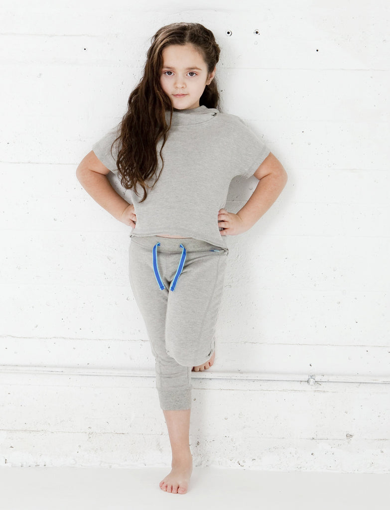 GIRLS 2-6 STRETCH COTTON CROPPED JOGGER
