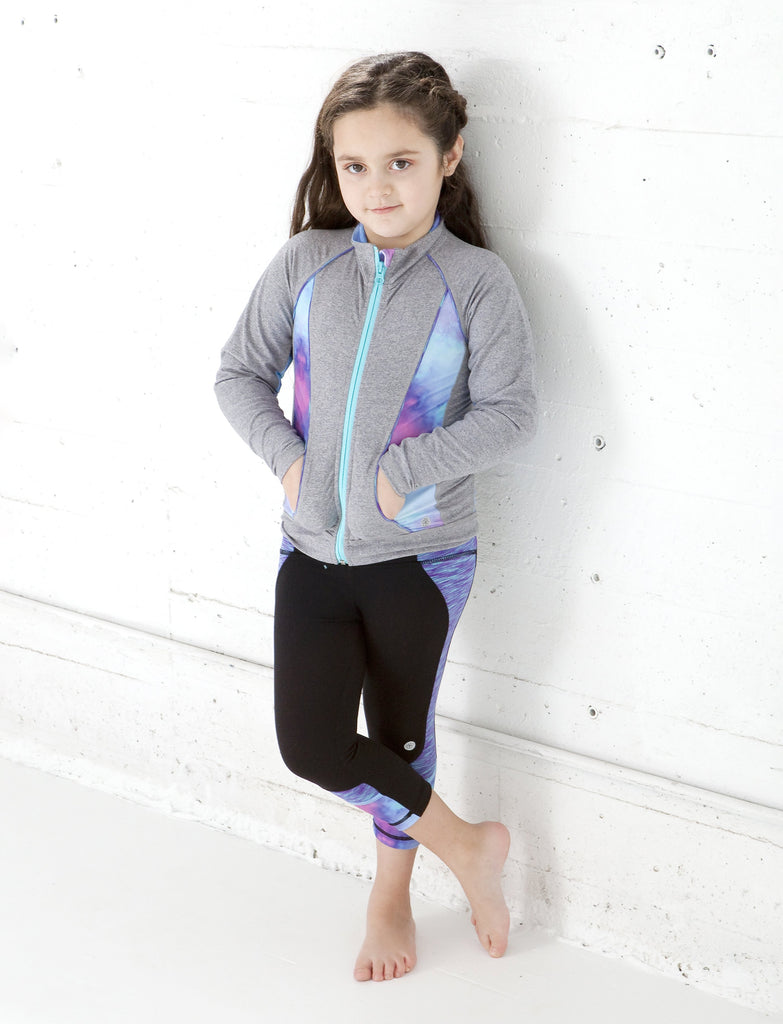 GIRLS 2-6 CUT AND SEW ATHLETIC JACKET