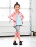 GIRLS 2-6 ASYMMETRICAL CUT AND SEW LEGGING