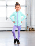 GIRLS 2-6 SIDE PANELED LEGGINGS
