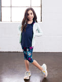 GIRLS 2-6 ALLOVER PRINT CAPRI LEGGING